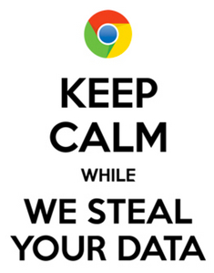 keep calm we steal your data microsoft vs google merchandising